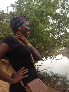 Zoe on the Gambian River, but sadly no hippos :(